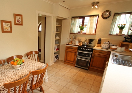 Kitchen at North Lodge cottage near Barmouth