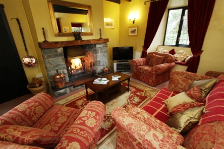 Lounge at North Lodge cottage near Barmouth