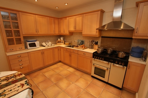 large kitchen dining area at godre'r Graig